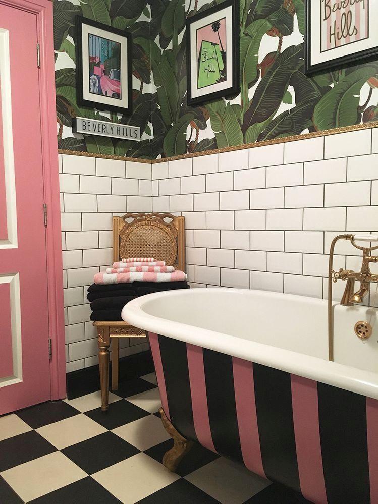 Busy bathroom interior design