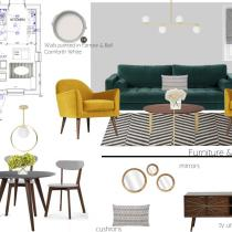 Interior design mood boards